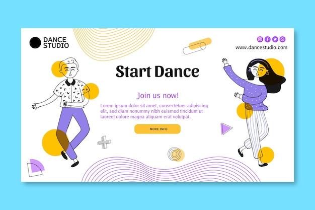 Banner orizzontale per ballare