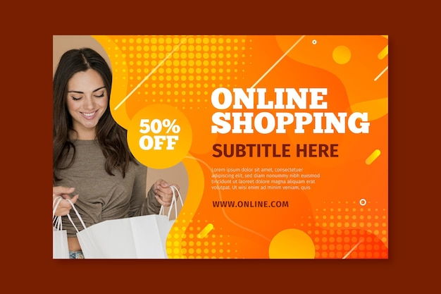 Banner orizzontale per lo shopping online