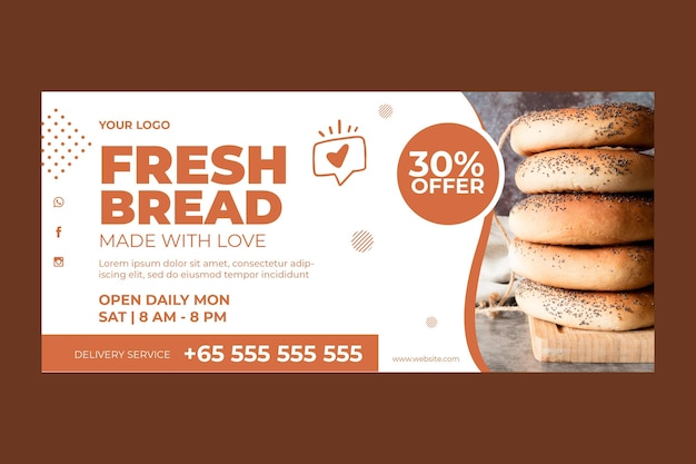 Horizontal banner for pastry shop