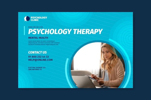 Horizontal banner for psychology therapy