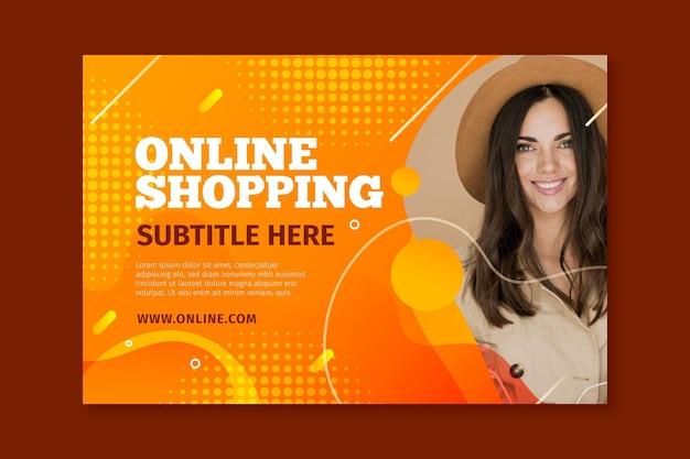 Шаблон горизонтального баннера для интернет-покупок