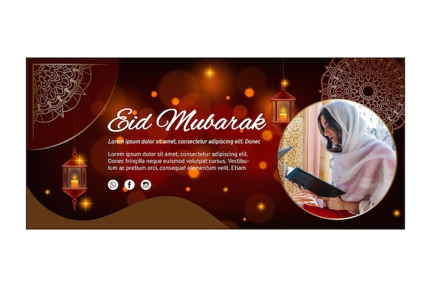 Modello di banner orizzontale per il ramadan