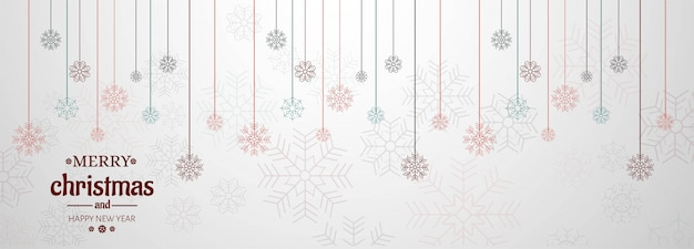 Horizontal banner with christmas card