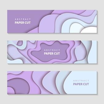 Horizontal banners, layout, social media design
