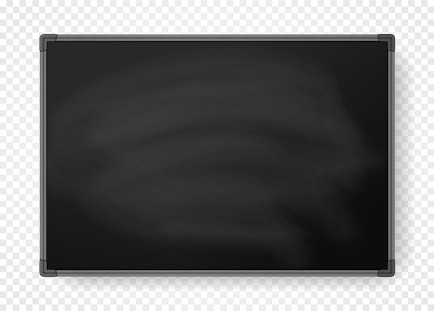 Horizontal black chalkboard with border