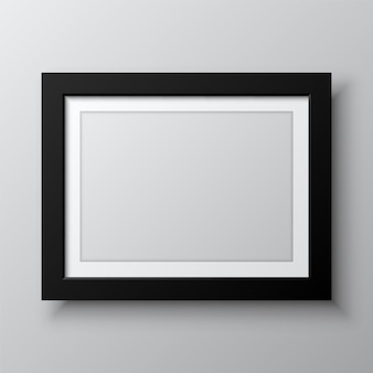 Horizontal blank picture frame isolated