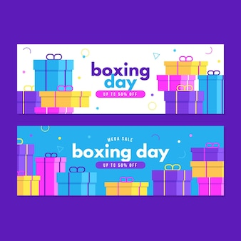 Horizontal  boxing day event banners