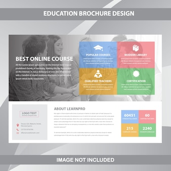 Horizontal business brochure template