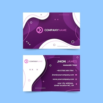 Horizontal business card template for business services