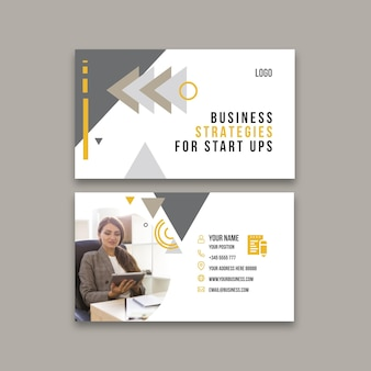 Horizontal business card template for general business