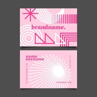 Горизонтальный шаблон визитной карточки