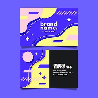 Horizontal business card template