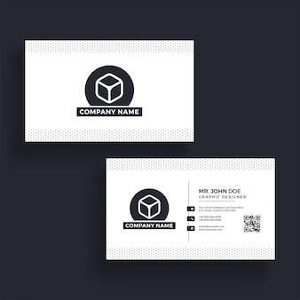 Горизонтальная визитная карточка с передней и задней презентацией.
