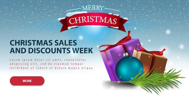 Horizontal christmas discount banner