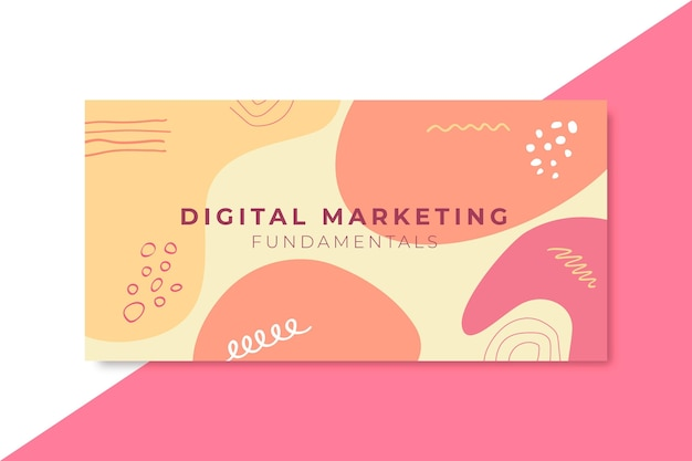 Banner aziendale di marketing digitale orizzontale