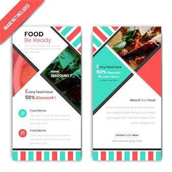 Horizontal discount food banner for restaurant
