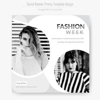 Horizontal fashion flyer template