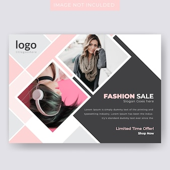 Horizontal fashion sale flyer template