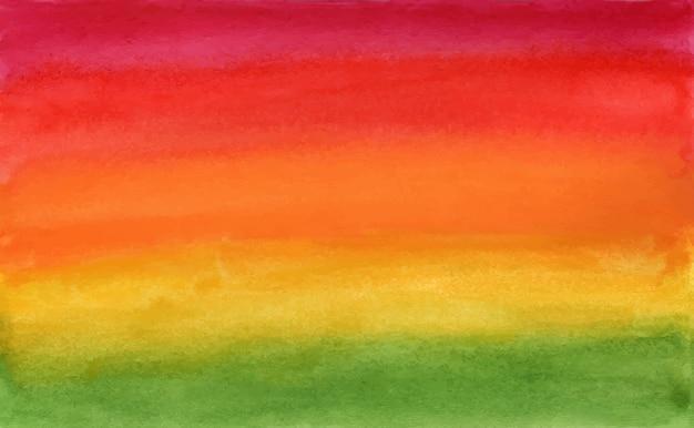 緑から赤の水彩アートの水平方向のグラデーション