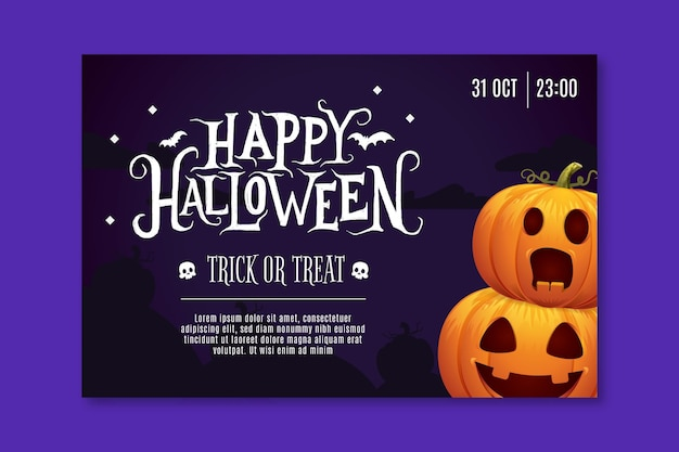 Horizontal halloween banner