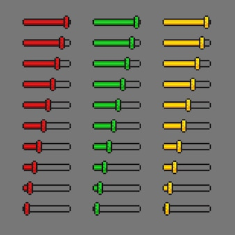 ピクセルアートスタイルで設定された水平インジケーター設定オプション