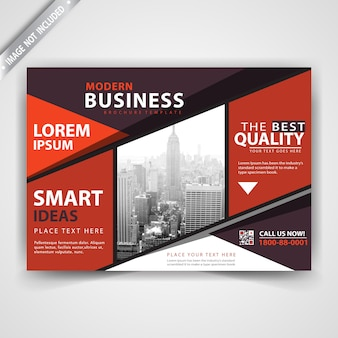 Horizontal leaflet commercial flyer