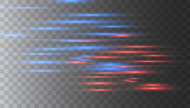 Horizontal lens flares