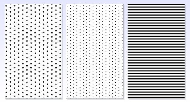 Horizontal lines. polka dot background. illustration. stripes, stars pattern.