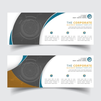 Horizontal modern corporate business banner templates