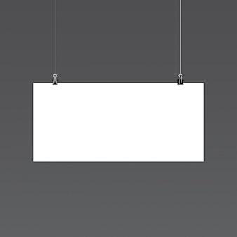 Horizontal paper mockup