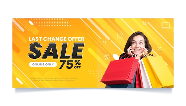 Horizontal sale banner template