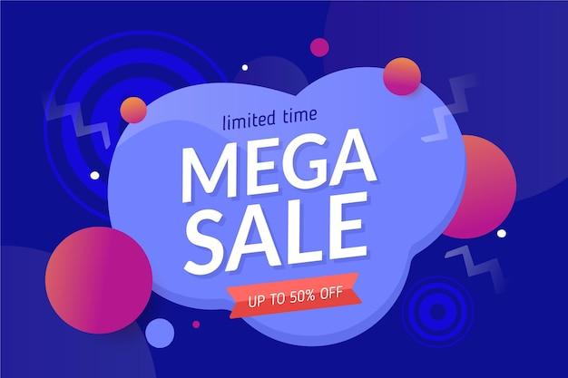 Horizontal sale banner template