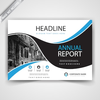 Horizontal shape leaflet cover template