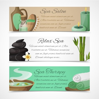 Horizontal spa banners template