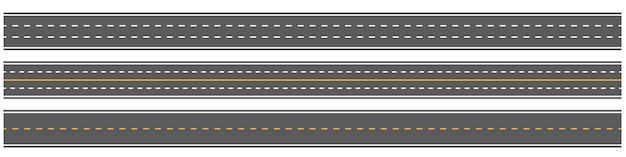 Horizontal straight seamless roads, road, highways