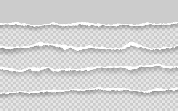 Horizontal torn paper edge.