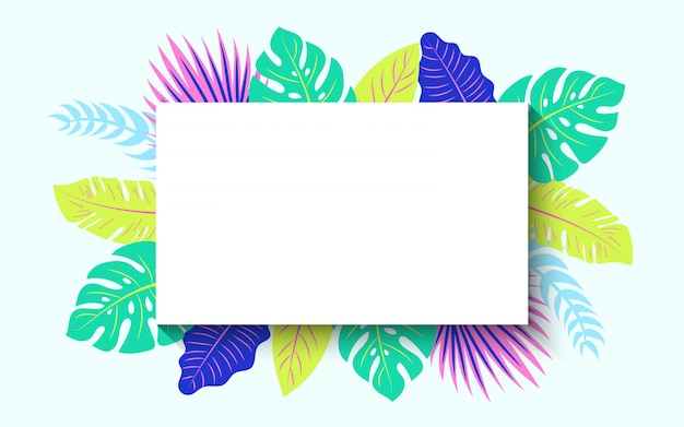 Horizontal tropical summer frame