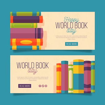 Horizontal world book day banners