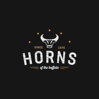 Horn of the buffalo vintage design
