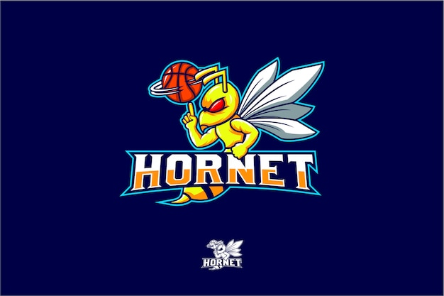 Hornet spin basketball vector