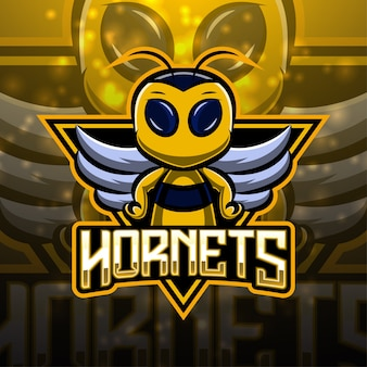 Hornets esport 마스코트 로고 디자인