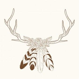 Horns feathers free spirit