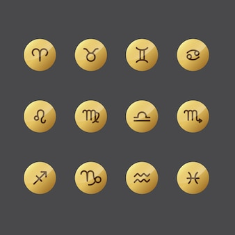 Horoscope icon collection