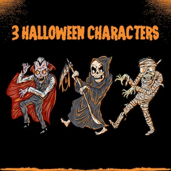 Horror character for sticker or illustration