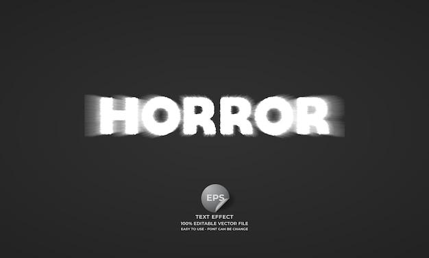 Horror editable text effect