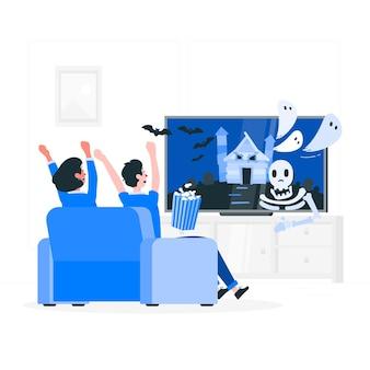 Illustrazione di concetto di film horror