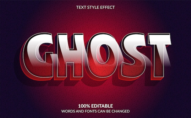 Horror movie text style effect