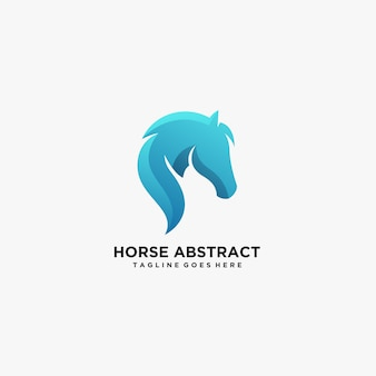 Horse abstract head horse cool color logo.