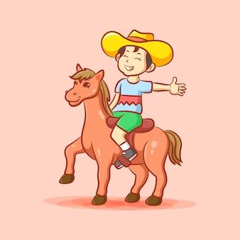 말과 어린 소년