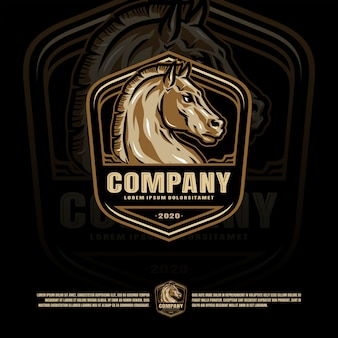 Horse badge template